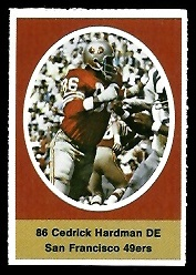 Cedrick Hardman 1972 Sunoco Stamps football card