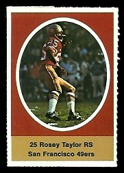 Roosevelt Taylor 1972 Sunoco Stamps football card