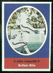 John Leypoldt 1972 Sunoco Stamps football card