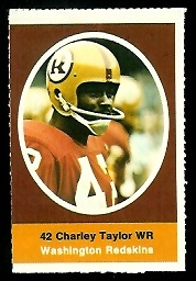 Charley Taylor 1972 Sunoco Stamps football card