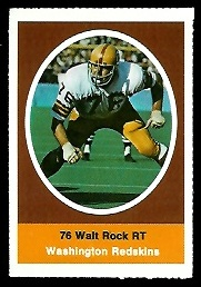 Walter Rock 1972 Sunoco Stamps football card