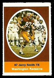 Jerry Smith 1972 Sunoco Stamps football card