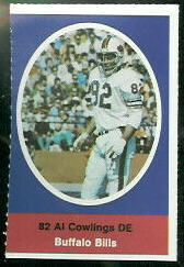 Al Cowlings 1972 Sunoco Stamps football card