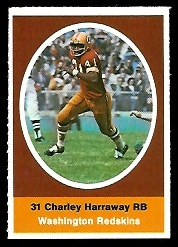 Charlie Harraway 1972 Sunoco Stamps football card