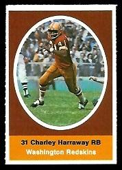 Charlie Harraway 1972 Sunoco Stamps football card