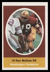 Ron McDole 1972 Sunoco Stamps football card