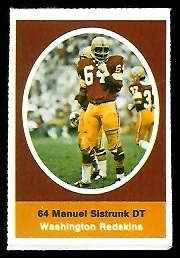 Manny Sistrunk 1972 Sunoco Stamps football card
