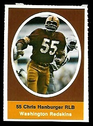 Chris Hanburger 1972 Sunoco Stamps football card