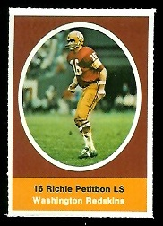 Richie Petitbon 1972 Sunoco Stamps football card