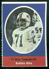 Bob Tatarek 1972 Sunoco Stamps football card