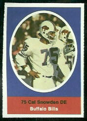 Cal Snowden 1972 Sunoco Stamps football card