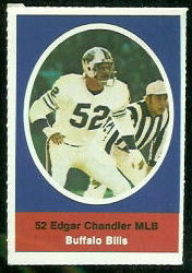 Edgar Chandler 1972 Sunoco Stamps football card