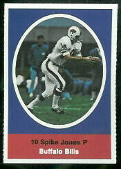 Spike Jones 1972 Sunoco Stamps football card