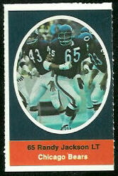 Randy Jackson 1972 Sunoco Stamps football card