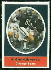 Glen Holloway 1972 Sunoco Stamps football card