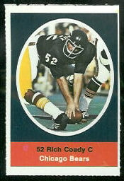 Rich Coady 1972 Sunoco Stamps football card