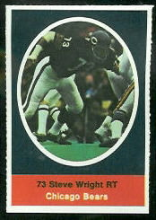 Steve Wright 1972 Sunoco Stamps football card