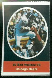 Bob Wallace 1972 Sunoco Stamps football card