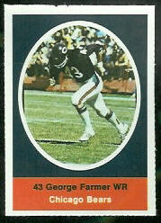 George Farmer 1972 Sunoco Stamps football card