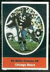 Willie Holman 1972 Sunoco Stamps football card