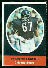 George Seals 1972 Sunoco Stamps football card