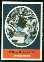 Doug Buffone 1972 Sunoco Stamps football card