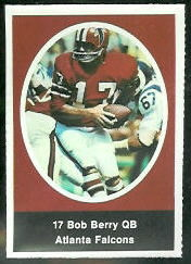 Bob Berry 1972 Sunoco Stamps football card