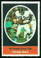 Charlie Ford 1972 Sunoco Stamps football card