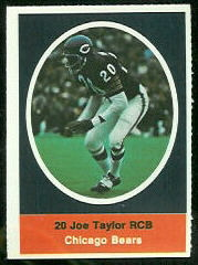 Joe Taylor 1972 Sunoco Stamps football card