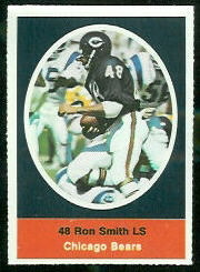Ron Smith 1972 Sunoco Stamps football card