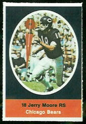 Jerry Moore 1972 Sunoco Stamps football card