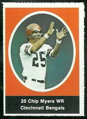 Chip Myers 1972 Sunoco Stamps football card