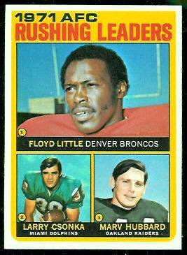 1971 AFC Rushing Leaders 1972 Topps football card