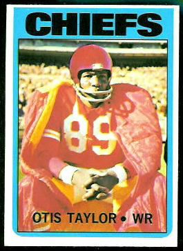 Otis Taylor 1972 Topps football card