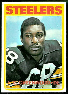 L.C. Greenwood 1972 Topps football card
