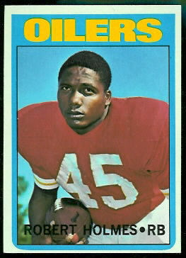 Robert Holmes 1972 Topps football card