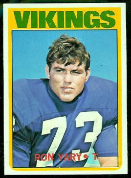 Ron Yary 1972 Topps football card