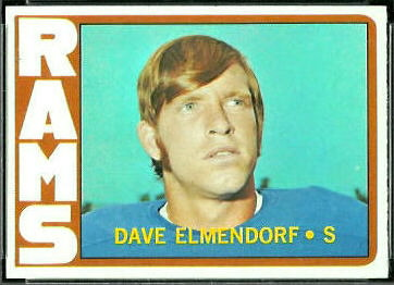 Dave Elmendorf 1972 Topps football card