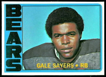 Gale Sayers 1972 Topps football card
