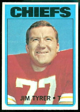 Jim Tyrer 1972 Topps football card