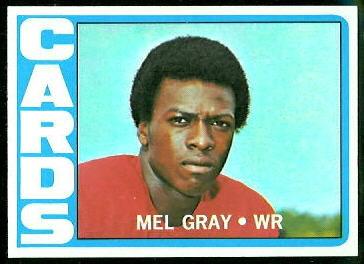 Mel Gray 1972 Topps football card