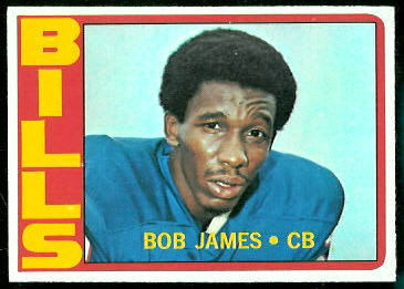 Bob James 1972 Topps football card