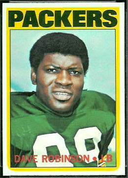 Dave Robinson 1972 Topps football card