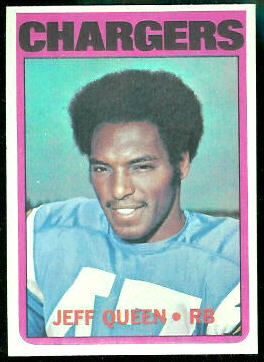 Jeff Queen 1972 Topps football card
