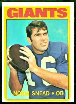 Norm Snead 1972 Topps football card