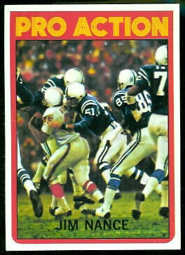 Jim Nance Pro Action 1972 Topps football card