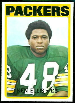 Ken Ellis 1972 Topps football card