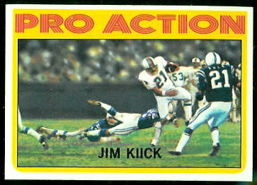 Jim Kiick Pro Action 1972 Topps football card