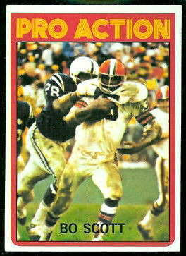 Bo Scott Pro Action 1972 Topps football card