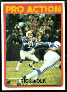 Rick Volk Pro Action 1972 Topps football card